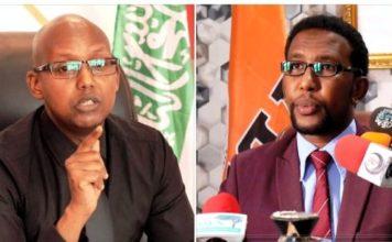 Khadar Hussein Abdi, the secretary-general of Waddani, and the spokesperson of the party, Barkhad Jama Batun