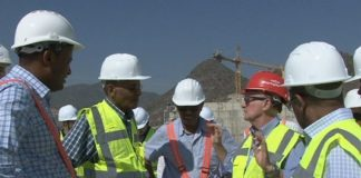 Ethiopian Electric Power Board Members Visit GERD Project