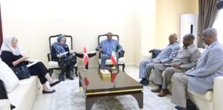 Denmark Ambassador Mette Knudsen meet with Somaliland President Muse Bihi Abdi