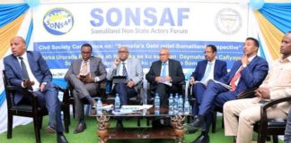 SONSAF Conference on Somalia's Debt Relief and Somaliland Perspective