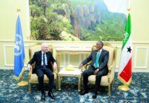 UN James Swan Meets Somaliland President Muse bihi Abdi