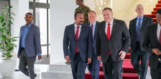 Ethiopia Prime Minister Abiy Ahmed Meets US Secretary of State Mike Pompeo at PM office