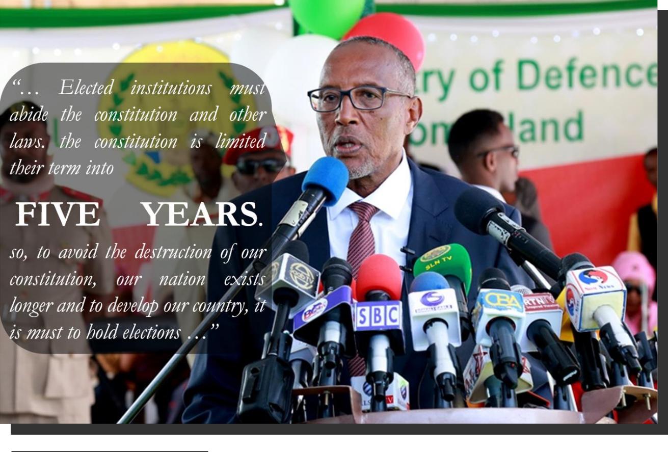 President of Somaliland Muuse Biihi Abdi