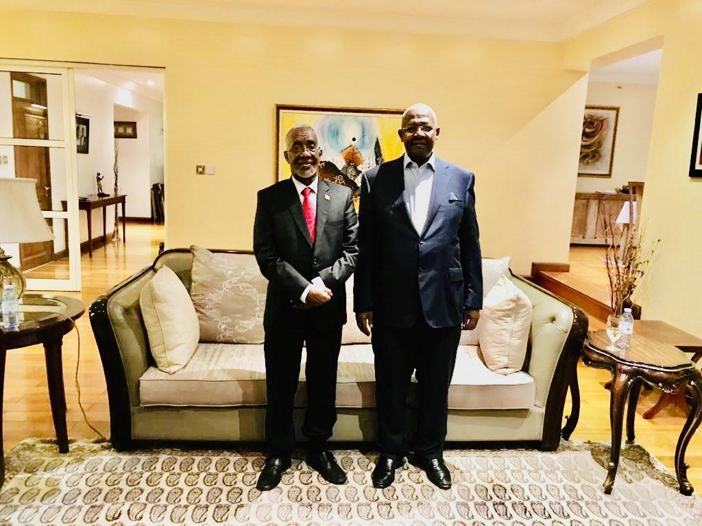Somaliland foreign minister Yasin Hagi M Meets with Ugandan Counterpart Sam Kutesa