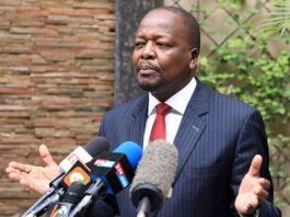 Kenya's Health Cabinet Secretary Mutahi Kagwe. PHOTO | JEFF ANGOTE | NATION MEDIA GROUP
