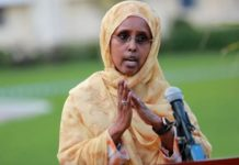 Somalia Minister for Health and Social Care Fowziya Abikar Nur