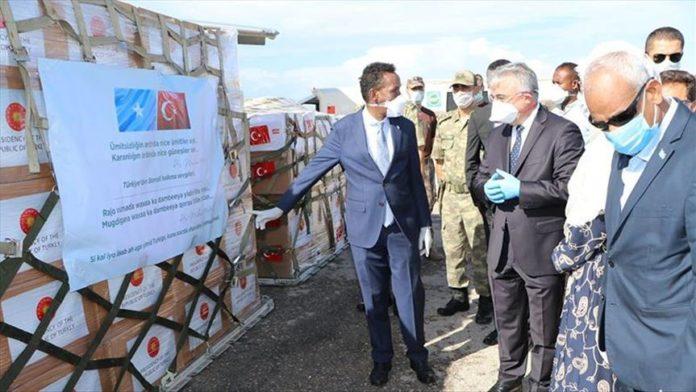 Turkey sends Somalia domestic ventilators to tackle virus