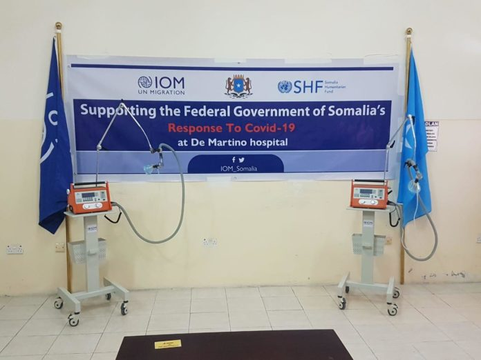 IOM Somalia donates 20 ventilators to De Martino Hospital in Mogadishu to support the fight against COVID19 in Somalia.