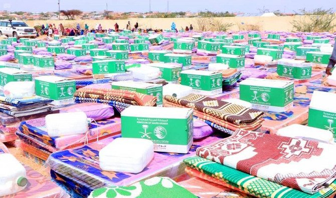 Saudi Arabia's aid agency provides aid to fire-ravaged camp in Somaliland