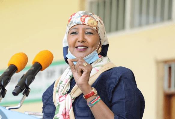 Sports Cabinet Secretary Amina Mohamed at a past event. PHOTO| COURTESY