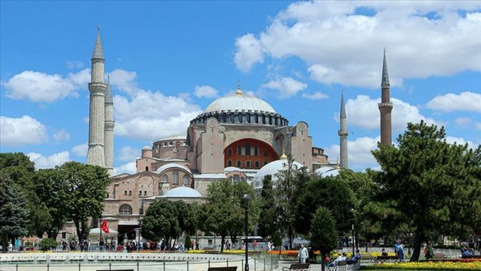 Religious leaders send letters to Turkey's Religious Affairs Directorate praising reopening of Hagia Sophia as mosque @Anadolu Agency