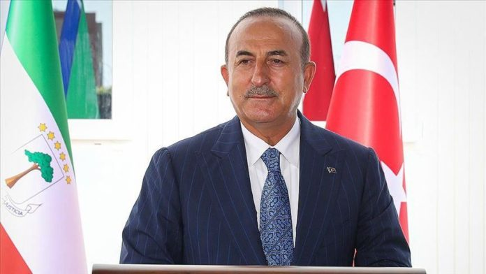Turkey's foreign minister on Wednesday officially opened Ankara's first embassy in Equatorial Guinea's capital Malabo.