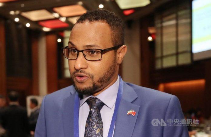 Somaliland's representative to Taiwan, Mohamed Omar Hagi Mohamoud. CNA photo Aug. 26, 2020