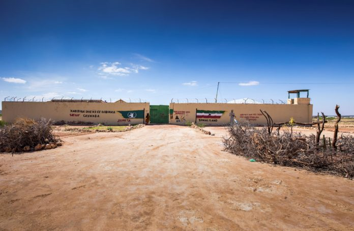 Gates of Aynabo Prison in Sool Region (Photo Credit: Petterick Wiggers)