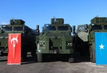 Turkey donates 12 military vehicles to Somalia