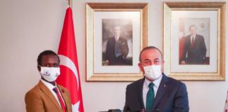 Turkish FM receives Young Somali inventor Guled Adan Abdi