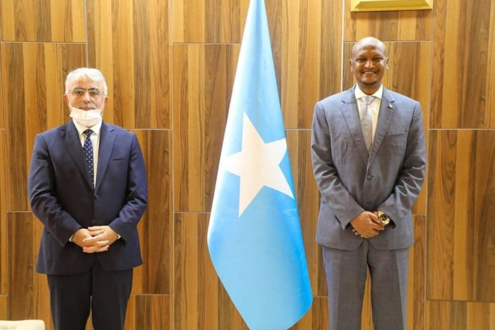 Somalia Acting PM Meets With Turkish Ambassador