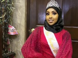 Winner of the fourth Miss Muslimah pageant USA, Zehra Abukar. Courtesy Miss Muslimah USA
