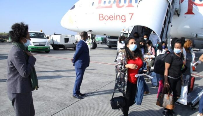 Ethiopia repatriates 132 migrants from Beirut