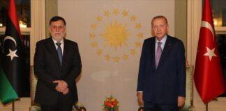 Turkish President Recep Tayyip Erdogan received Libyan Prime Minister Fayez al-Sarraj in Istanbul on Sunday