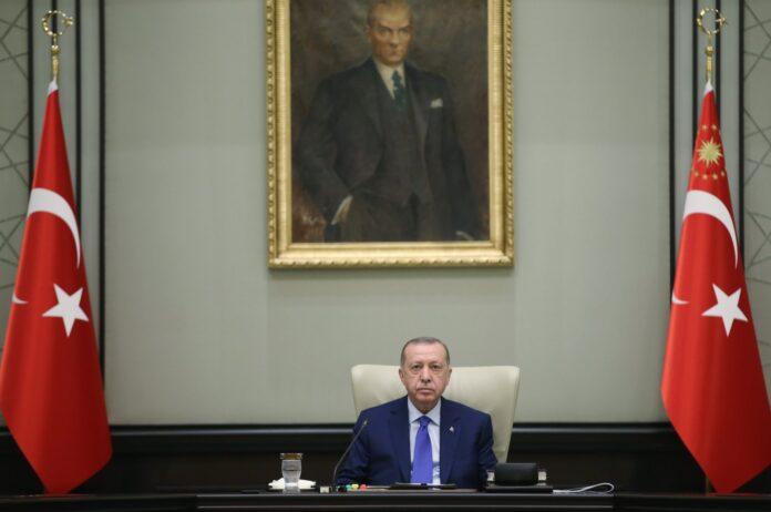 President Recep Tayyip Erdoğan poses ahead of a cabinet meeting in Ankara on Tuesday, Oct. 20, 2020 (AA Photo)