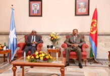 Somalia president begins two-day visit in Eritrea