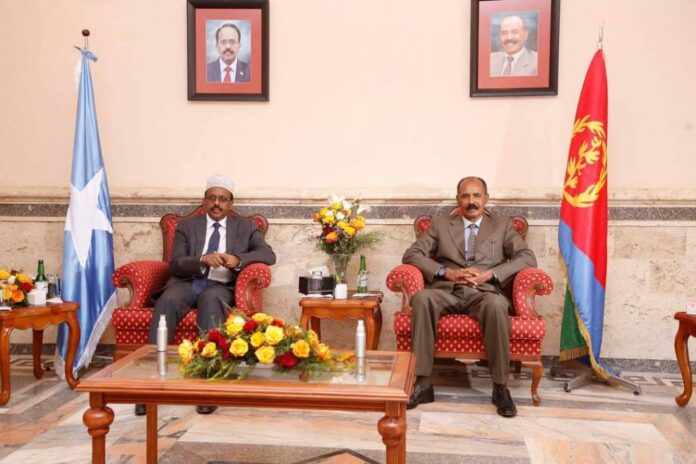 Somalia president begins two-day visit in Eritrea
