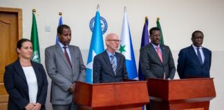 On Dhusamareb Visit, International Representatives Urge Somali Leaders To Continue Collaboration