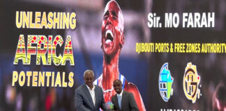 British long-distance runner Mo Farah Named Djibouti Ports Ambassador