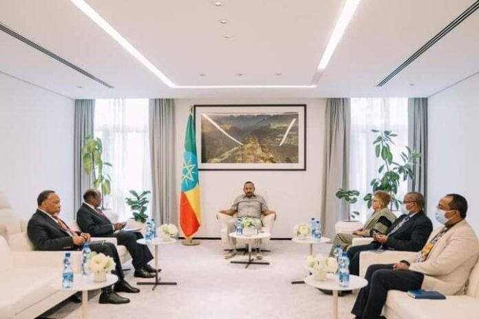 Ethiopia Prime Minister Abiy Ahmed Meets African Union Envoys