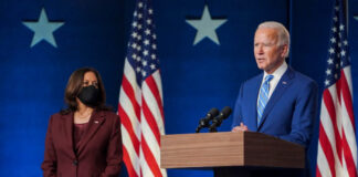 Vice president-elect Kamala Harris with president-elect Joe Biden.