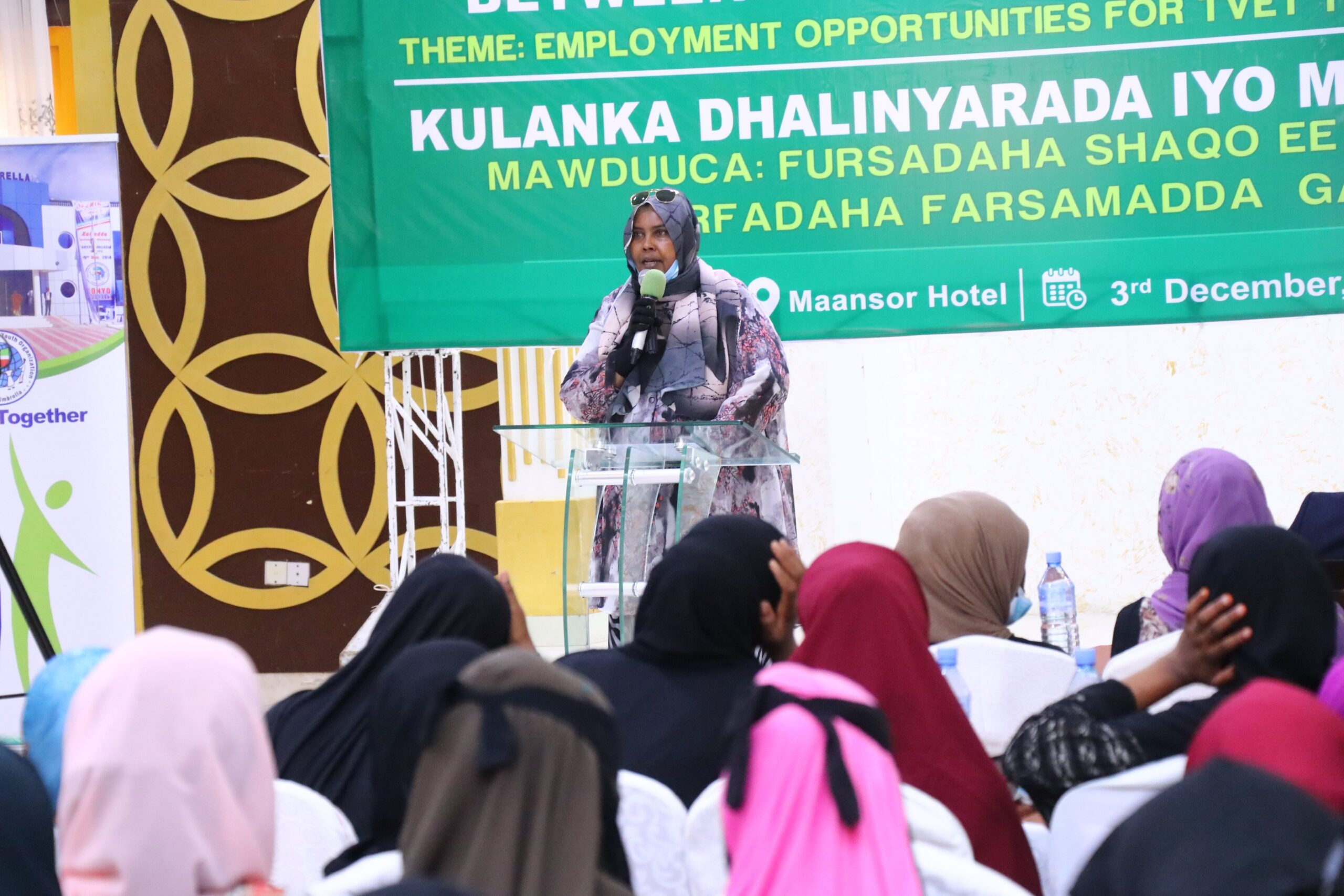 Somaliland Minister of Employment and Social Affairs, Hinda Ghani,