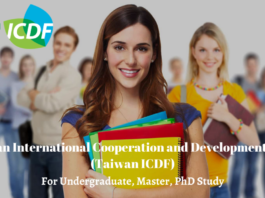 Taiwan ICDF International Scholarships