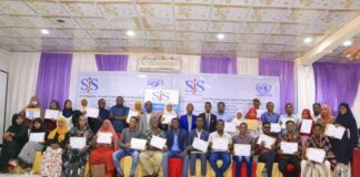 SJS and UNSOM conclude three-day journalists training on Freedom of Expression: Rights and Responsibilities in Mogadishu