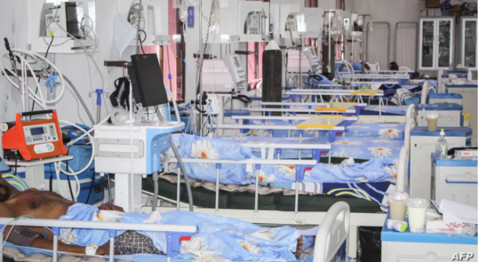 FILE - Beds are set for patients infected with the coronavirus, in the Intensive Care Unit at Martini hospital in Mogadishu, Somalia, July 29, 2020.