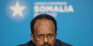 Mohamed Abdullahi Mohamed, president of Somalia, attends the London Somalia Conference' at Lancaster House, May 11, 2017. REUTERS/Jack Hill/Pool/File Photo