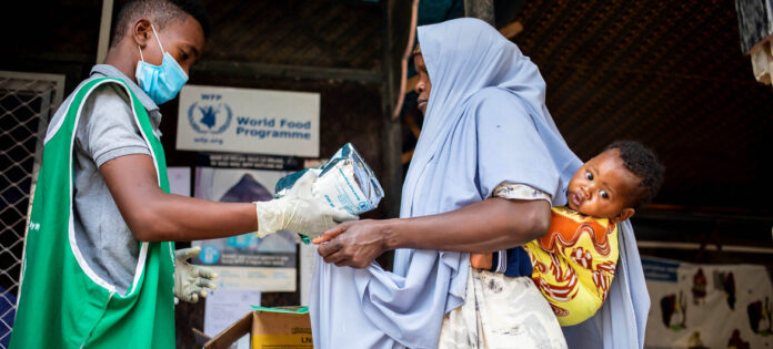 WFP/Ismail Taxta World Food Programme food distribution in Somalia during the COVID-19 pandemic.