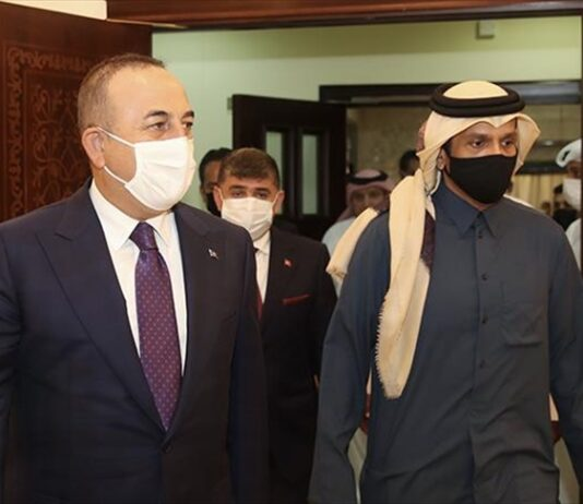 Turkish FM vows to continue to work together with Qatar