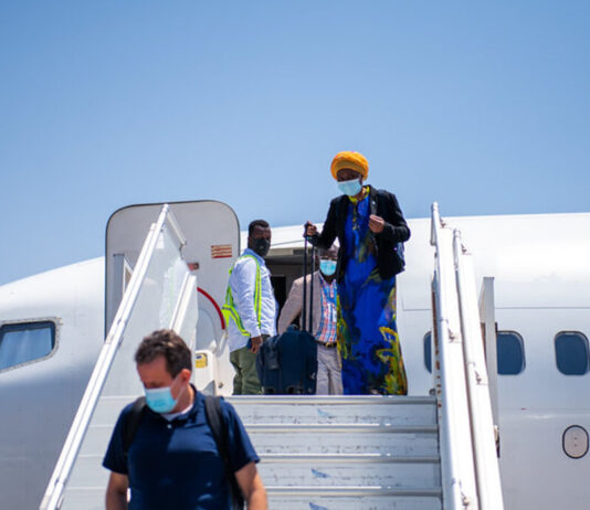The new Deputy Special Representative of the United Nations Secretary-General (DSRSG), Ms. Anita Kiki Gbeho, arrived in Mogadishu