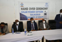 UNITED NATIONS REPRESENTATIVES HAND OVER OXYGEN EQUIPMENT TO GALMUDUG AUTHORITIES, WITNESS START OF COVAX VACCINATION CAMPAIGN IN GALMUDUG