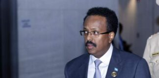 AFPCopyright: AFP President Farmajo has signed a law extending his term and that of the parliament