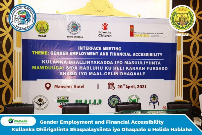 Somaliland:Sonyo Hosts Interface Meeting of Gender Employment and Financial Accessibility