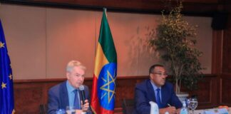 emeke Mekonnen, Deputy Prime Minister and Minister of Ethiopia held talks today with Pekka Haavisto, Special Envoy of the European Union and Minister of Foreign Affairs of Finland.