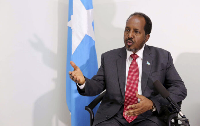 Former Somali president Hassan Sheikh Mohamud said on Sunday that soldiers had attacked his residence and that President Mohamed Abdullahi Mohamed was responsible. REUTERS/Feisal Omar (SOMALIA - Tags: POLITICS) - RTR3OJU4