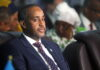 Somalia's Prime Minister Mohamed Hussein Roble attends the Somali election negotiation in Mogadishu, Somalia May 27, 2021 REUTERS/Feisal Omar