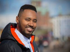 Helsinki city councillor and incoming Member of Parliament Suldaan Said Ahmed of the Left Alliance Party. Image: Mårten Lampén / Yle