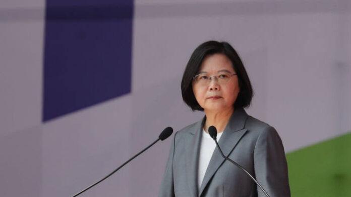 Tsai Ing-wen's speech marks a departure from her normally cautious tone © RITCHIE B TONGO/EPA-EFE/Shutterstock