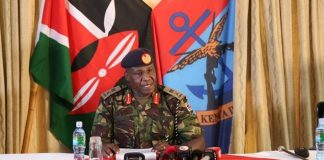 Gen Robert Kibochi during the interview on July 28 Image: Ombati