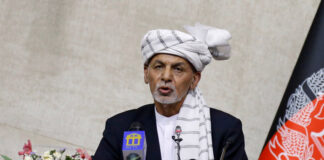 """The president's office told Reuters news agency it """"cannot say anything about Ashraf Ghani's movement for security reasons"""" [Reuters]"""