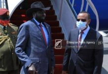 South Sudan President Arrives In AddisAbaba For Working Visit